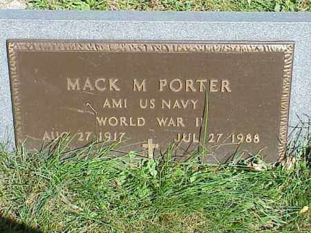 PORTER, MACK M. - Richland County, Ohio | MACK M. PORTER - Ohio Gravestone Photos