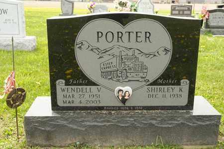 PORTER, WENDELL V - Richland County, Ohio | WENDELL V PORTER - Ohio Gravestone Photos