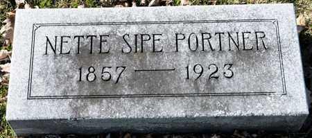 SIPE PORTNER, NETTE - Richland County, Ohio | NETTE SIPE PORTNER - Ohio Gravestone Photos