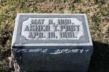 POST, ASHER T - Richland County, Ohio   ASHER T POST - Ohio Gravestone Photos