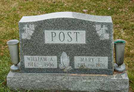 POST, MARY T - Richland County, Ohio | MARY T POST - Ohio Gravestone Photos