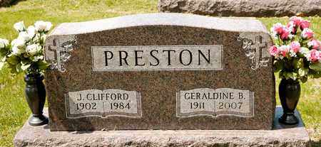 PRESTON, J CLIFFORD - Richland County, Ohio | J CLIFFORD PRESTON - Ohio Gravestone Photos