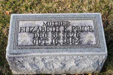 PRICE, ELIZABETH K - Richland County, Ohio | ELIZABETH K PRICE - Ohio Gravestone Photos
