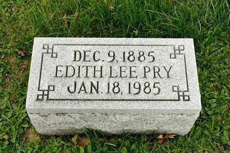 PRY, EDITH LEE - Richland County, Ohio | EDITH LEE PRY - Ohio Gravestone Photos