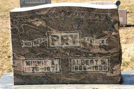 PRY, MINNIE A - Richland County, Ohio | MINNIE A PRY - Ohio Gravestone Photos