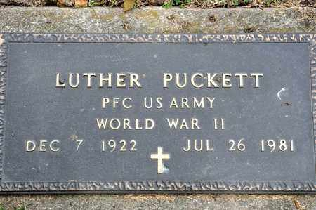 PUCKETT, LUTHER - Richland County, Ohio | LUTHER PUCKETT - Ohio Gravestone Photos