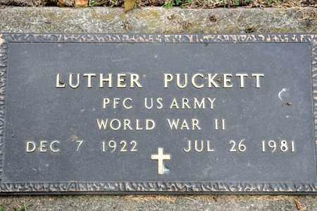 PUCKETT, LUTHER - Richland County, Ohio | LUTHER PUCKETT - Ohio Gravestone Photos