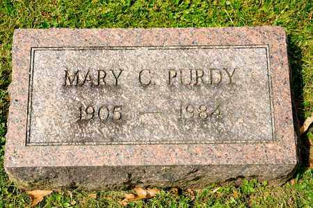 PURDY, MARY C - Richland County, Ohio | MARY C PURDY - Ohio Gravestone Photos