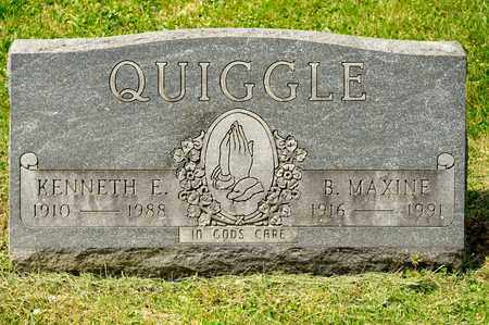 QUIGGLE, KENNETH E - Richland County, Ohio | KENNETH E QUIGGLE - Ohio Gravestone Photos