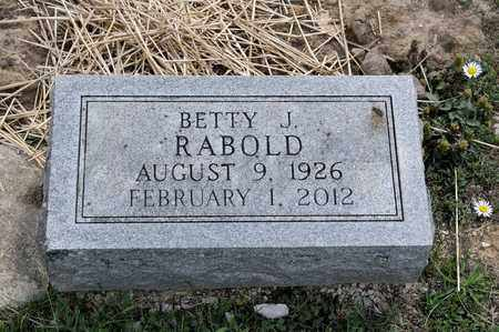 RABOLD, BETTY J - Richland County, Ohio | BETTY J RABOLD - Ohio Gravestone Photos