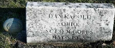 RABOLD, DAN - Richland County, Ohio | DAN RABOLD - Ohio Gravestone Photos