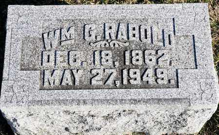 RABOLD, WILLIAM G - Richland County, Ohio | WILLIAM G RABOLD - Ohio Gravestone Photos