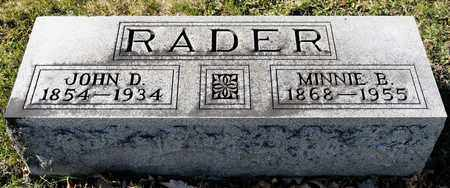 RADER, MINNIE B - Richland County, Ohio | MINNIE B RADER - Ohio Gravestone Photos