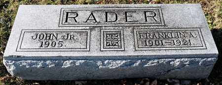 RADER, FRANKLIN A - Richland County, Ohio | FRANKLIN A RADER - Ohio Gravestone Photos
