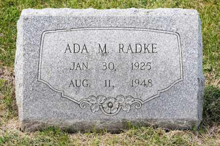 RADKE, ADA M - Richland County, Ohio   ADA M RADKE - Ohio Gravestone Photos