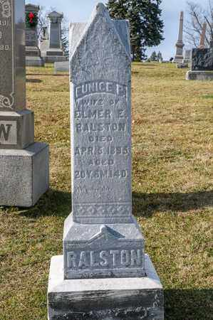 RALSTON, EUNICE P - Richland County, Ohio | EUNICE P RALSTON - Ohio Gravestone Photos