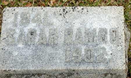 RAMBO, SARAH - Richland County, Ohio | SARAH RAMBO - Ohio Gravestone Photos