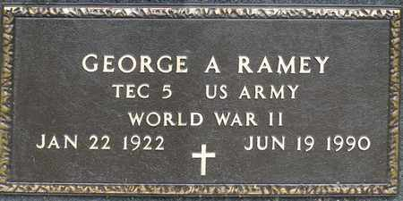RAMEY, GEORGE A - Richland County, Ohio | GEORGE A RAMEY - Ohio Gravestone Photos