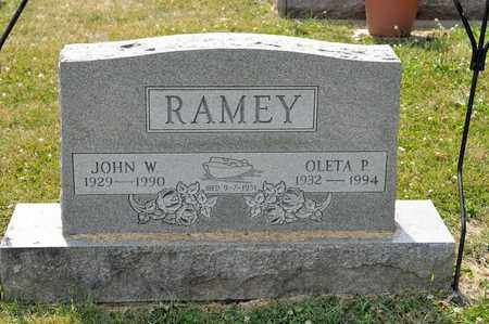 RAMEY, OLETA P - Richland County, Ohio | OLETA P RAMEY - Ohio Gravestone Photos