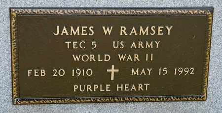 RAMSEY, JAMES W - Richland County, Ohio | JAMES W RAMSEY - Ohio Gravestone Photos