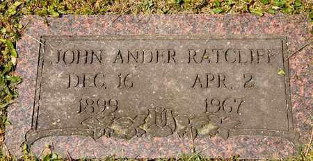 RATCLIFF, JOHN ANDER - Richland County, Ohio | JOHN ANDER RATCLIFF - Ohio Gravestone Photos