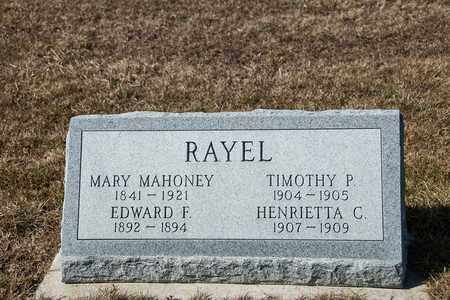 RAYEL, EDWARD F - Richland County, Ohio | EDWARD F RAYEL - Ohio Gravestone Photos