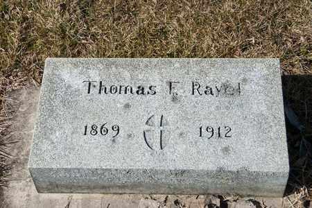 RAYEL, THOMAS F - Richland County, Ohio | THOMAS F RAYEL - Ohio Gravestone Photos
