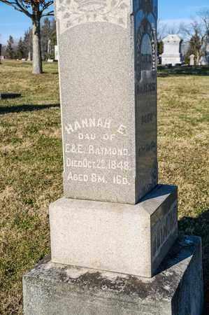 RAYMOND, HANNAH E - Richland County, Ohio | HANNAH E RAYMOND - Ohio Gravestone Photos