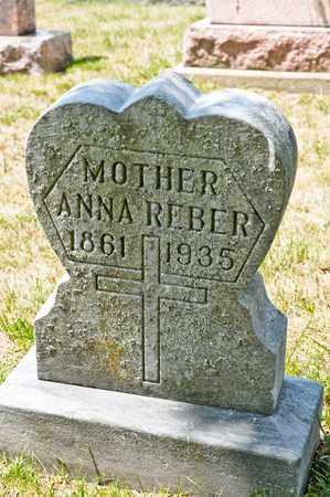REBER, ANNA - Richland County, Ohio | ANNA REBER - Ohio Gravestone Photos