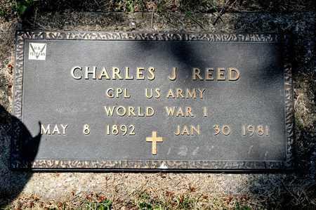 REED, CHARLES J - Richland County, Ohio | CHARLES J REED - Ohio Gravestone Photos