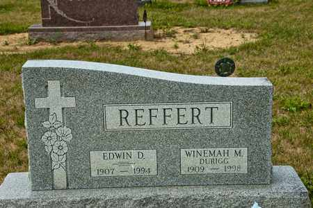 REFFERT, EDWIN D - Richland County, Ohio | EDWIN D REFFERT - Ohio Gravestone Photos