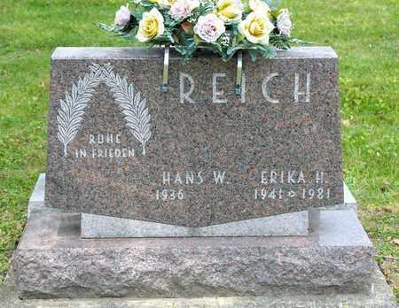 REICH, ERIKA H - Richland County, Ohio | ERIKA H REICH - Ohio Gravestone Photos