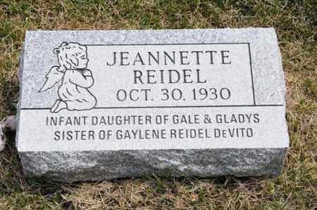 REIDEL, JEANNETTE - Richland County, Ohio | JEANNETTE REIDEL - Ohio Gravestone Photos