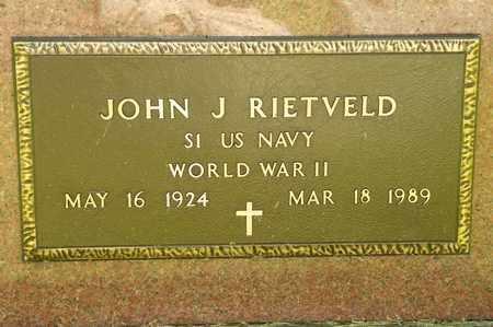 REITVELD, JOHN J - Richland County, Ohio | JOHN J REITVELD - Ohio Gravestone Photos