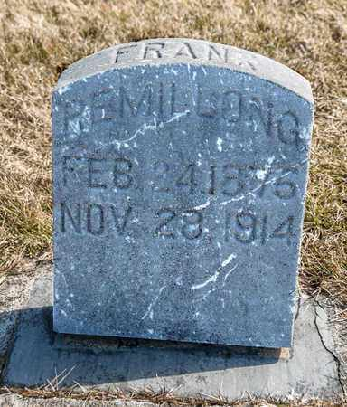 REMILLONG, FRANK - Richland County, Ohio | FRANK REMILLONG - Ohio Gravestone Photos
