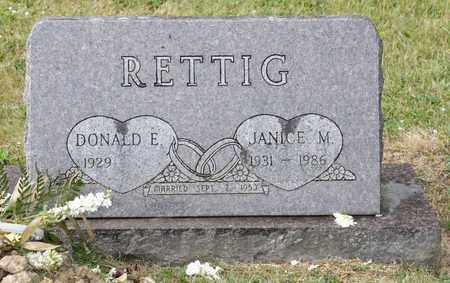 RETTIG, JANICE M - Richland County, Ohio | JANICE M RETTIG - Ohio Gravestone Photos