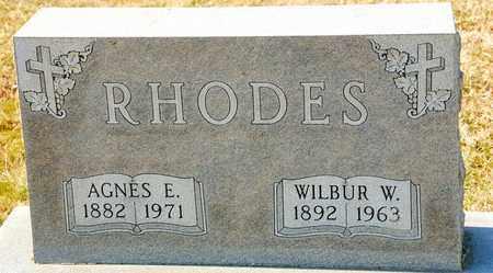 RHODES, AGNES E - Richland County, Ohio | AGNES E RHODES - Ohio Gravestone Photos