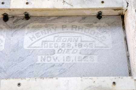 RHODES, HENRY P - Richland County, Ohio | HENRY P RHODES - Ohio Gravestone Photos