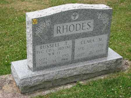 RHODES, RUSSELL T. - Richland County, Ohio | RUSSELL T. RHODES - Ohio Gravestone Photos