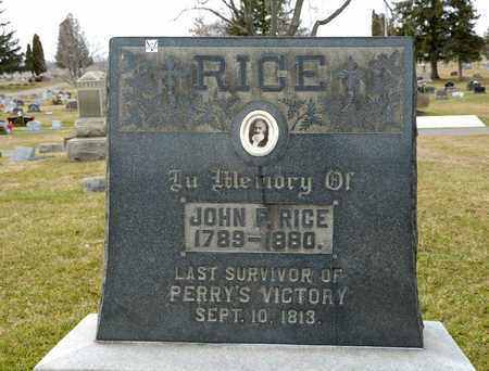 RICE, JOHN F - Richland County, Ohio | JOHN F RICE - Ohio Gravestone Photos