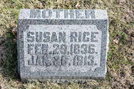 RICE, SUSAN - Richland County, Ohio | SUSAN RICE - Ohio Gravestone Photos