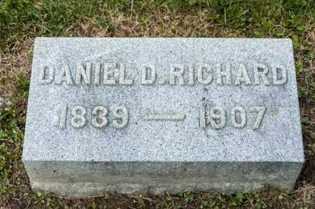 RICHARD, DANIEL D - Richland County, Ohio | DANIEL D RICHARD - Ohio Gravestone Photos