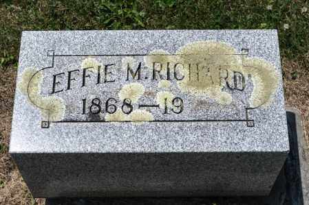 RICHARD, EFFIE M - Richland County, Ohio | EFFIE M RICHARD - Ohio Gravestone Photos