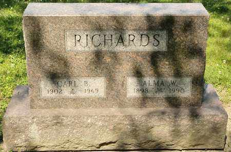 RICHARDS, ALMA W - Richland County, Ohio | ALMA W RICHARDS - Ohio Gravestone Photos