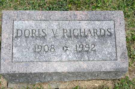 RICHARDS, DORIS V - Richland County, Ohio | DORIS V RICHARDS - Ohio Gravestone Photos