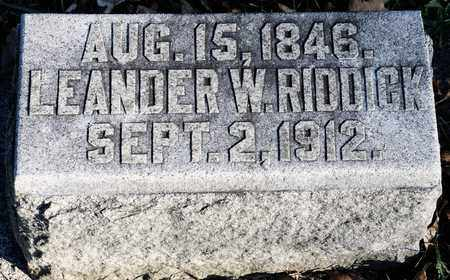 RIDDICK, LEANDER W - Richland County, Ohio | LEANDER W RIDDICK - Ohio Gravestone Photos