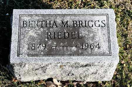 RIEDEL, BERTHA M - Richland County, Ohio | BERTHA M RIEDEL - Ohio Gravestone Photos