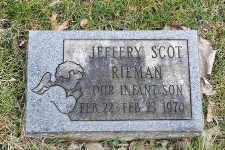 RIEMAN, JEFFERY SCOT - Richland County, Ohio | JEFFERY SCOT RIEMAN - Ohio Gravestone Photos