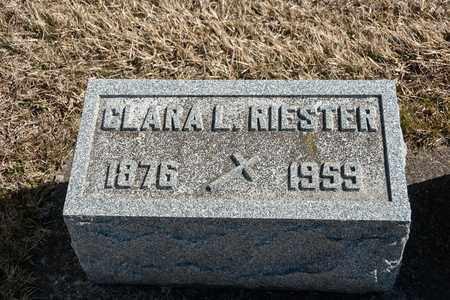 RIESTER, CLARA L - Richland County, Ohio | CLARA L RIESTER - Ohio Gravestone Photos