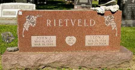 RIETVELD, JOHN J - Richland County, Ohio | JOHN J RIETVELD - Ohio Gravestone Photos